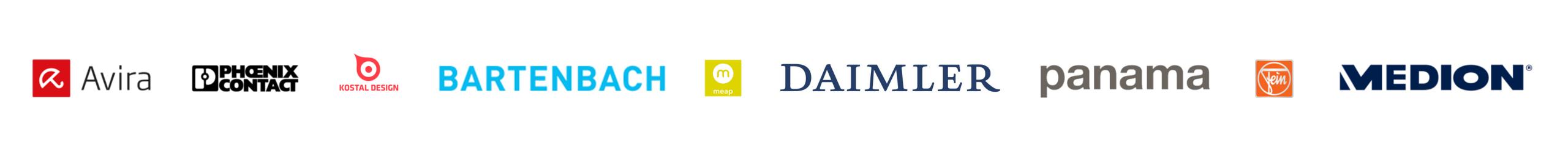 Unsere Kunden im Bereich Marketingübersetzungen (Logos)