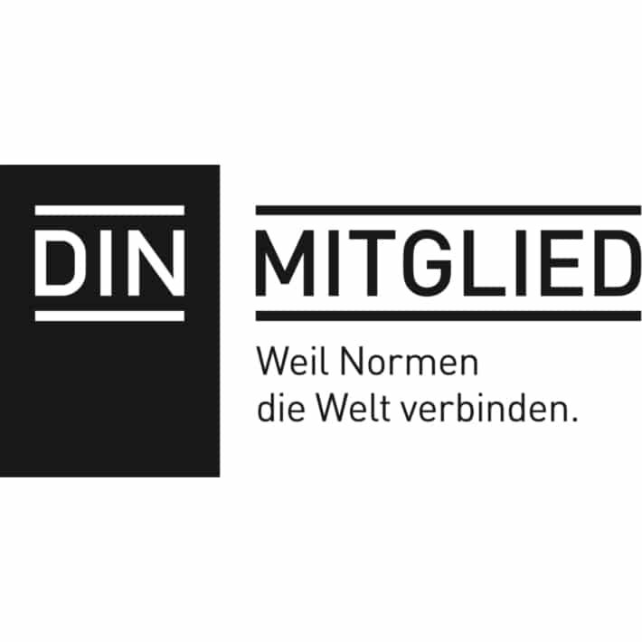 Mitgliedslogo in Schwarz-Weiß für DIN
