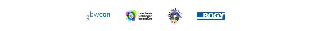 Gesellschaftliches Engagement von oneword: Logos von Initiativen